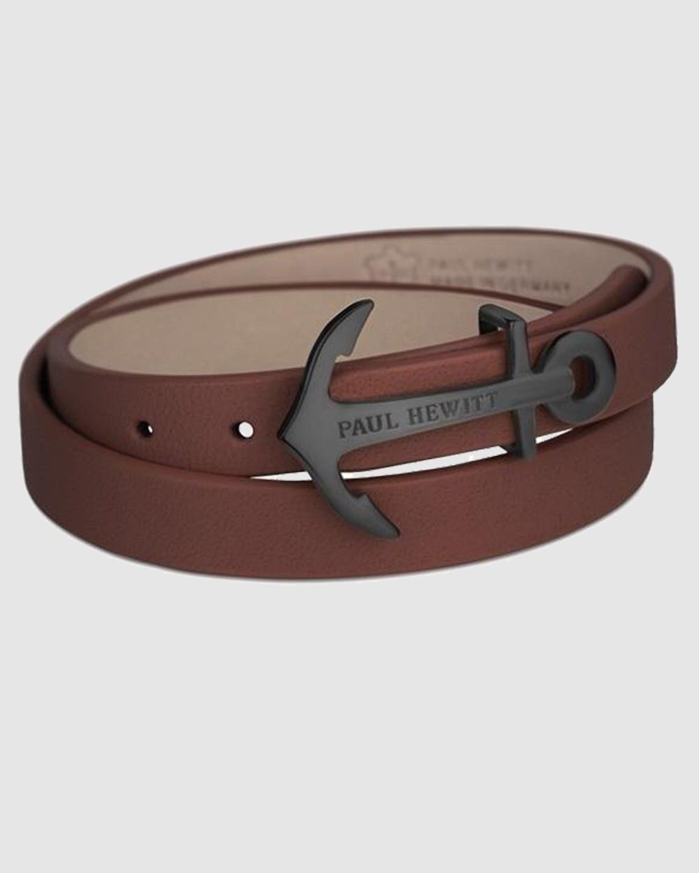 Paul Hewitt Northbound Anchor Bracelet Jewellery Brown