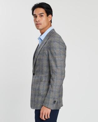 Farage Milan B2 Check Jacket - Blazers (Cream)