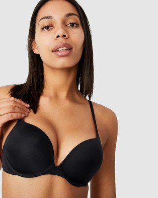 Cotton On Body Ultimate Comfort Push Up2 Bra - Underwire Bras (Black)