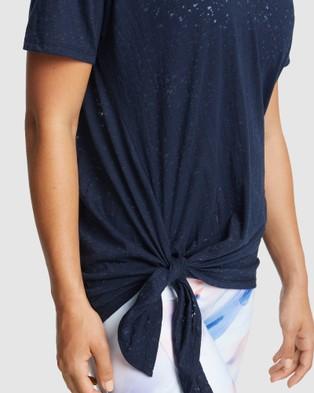 Rockwear Mantra Tie Side Longline  Tee - T-Shirts & Singlets (DEEP SEA)