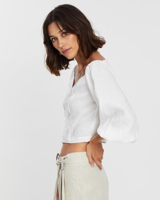 Saroka Rommy Top - Cropped tops (Ivory)