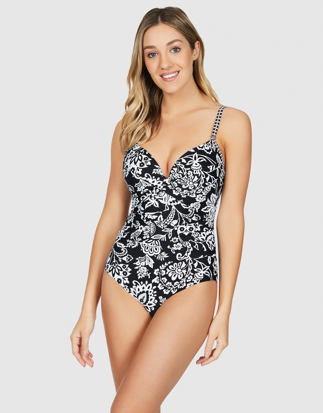 Sea Level Australia - Lotus Cross Front Moulded Underwire One Piece