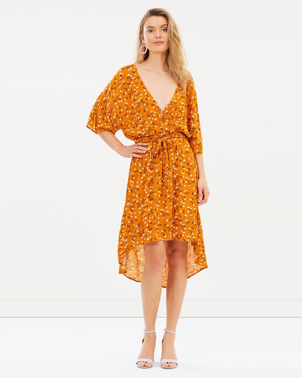MINKPINK Delicate Daze Midi Dress Printed Dresses Multi Delicate Daze Midi Dress