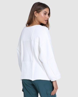 Madison The Label Denver Knit - Jumpers & Cardigans (White)