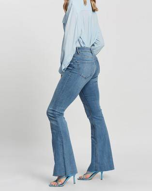 M.N.G Flare Jeans - High-Waisted (Open Blue)