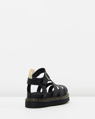 Dr Martens Womens Vegan Blaire Sandals - Sandals (Black & Black Felix Rub Off)