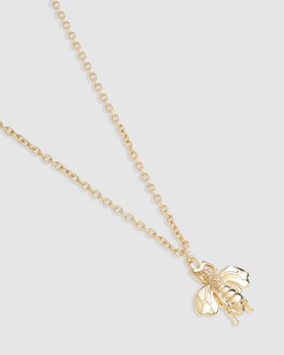 Arms Of Eve Honey Bee Gold Pendant Necklace Jewellery Gold