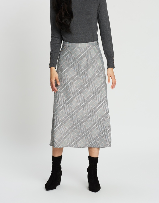 Dorothy Perkins - Check Midi Skirt