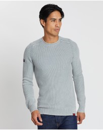Superdry - Garment Dyed L.A. Textured Crew Jumper