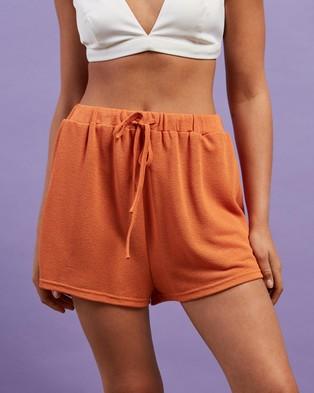 Dazie - Sunny Side Up Knit Shorts - High-Waisted (Sunburnt Orange) Sunny Side Up Knit Shorts