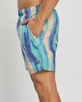 adidas Originals - R.Y.V. Graphic Swim Shorts Patrick Kyle Edition Swimwear (Vapour Pink & Multicolor)