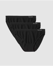 Boody Organic Bamboo Eco Wear - 3 Pack Bikini Brief Blacks