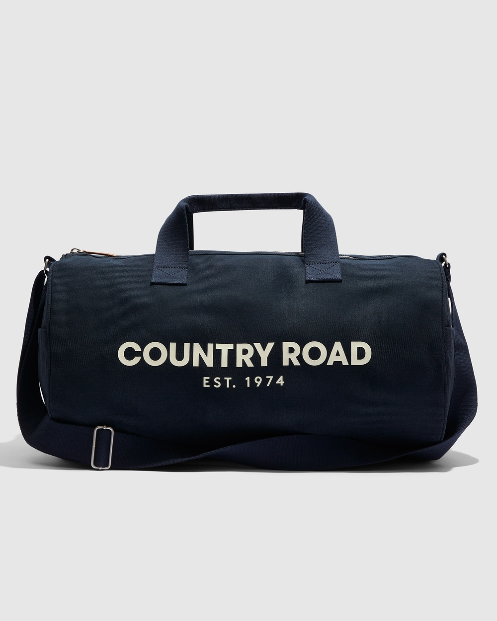 Country Road Organically Grown Cotton Modern Logo Duffle Bags navy