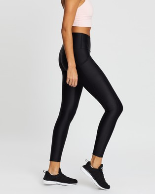 Running Bare Ab Waisted Power Moves Full Length Tights - Full Tights (Black)