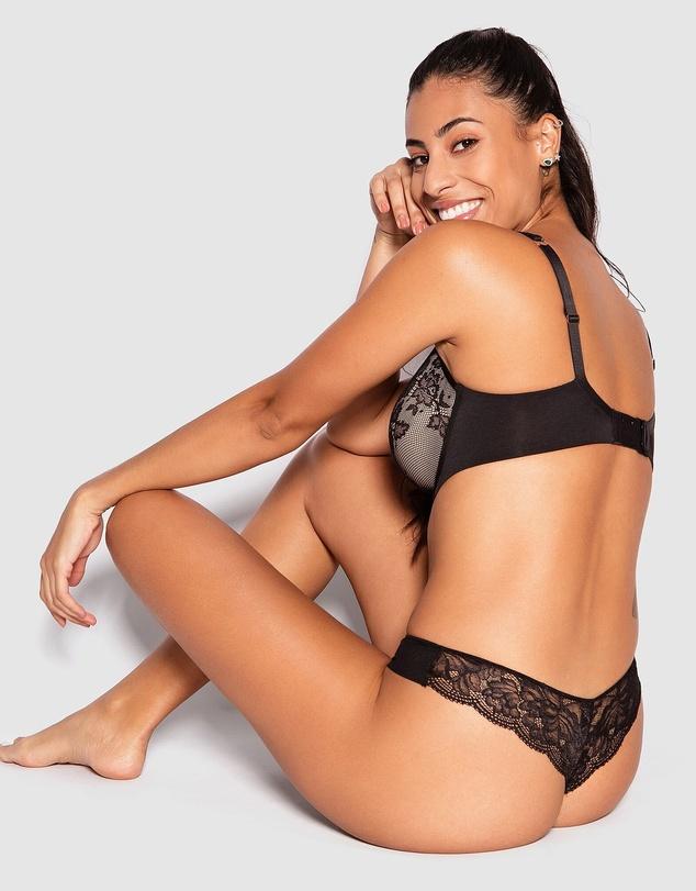 Women Pure Body Lace Full Cup Bra