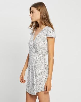 All About Eve Keepsake Wrap Dress - Printed Dresses (PRINT)