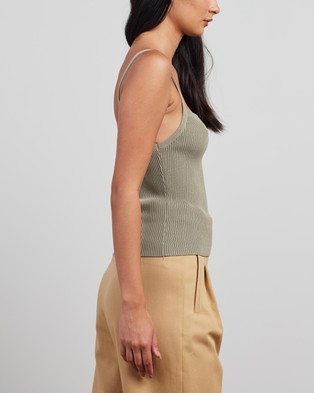 Bec + Bridge Penny Knit Top Cropped tops Sage