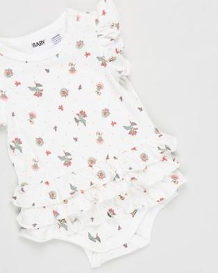 Cotton On Baby Alice Ruffle Bubbysuit   Babies - Bodysuits (Vanilla Spotty Floral)