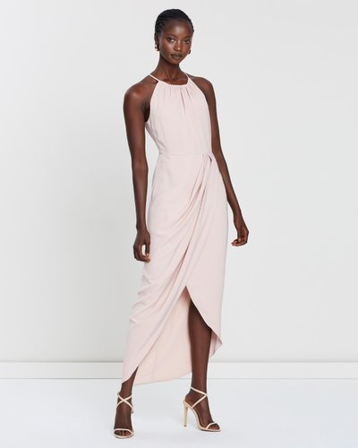 High Neck Ruched Dress