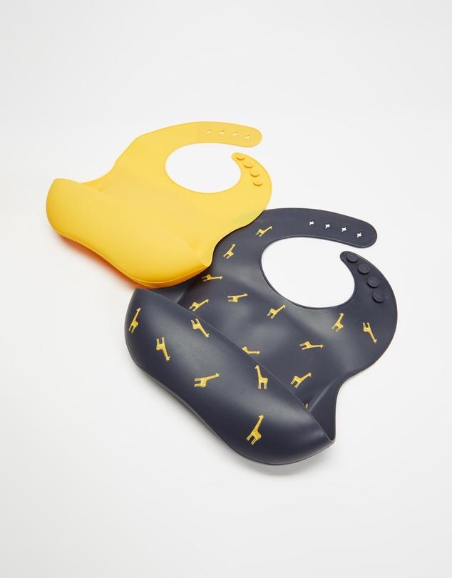 Kids 2 Pack Silicone Bibs - Babies