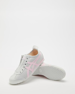 Onitsuka Tiger Mexico 66 Slip On   Women's - Slip-On Sneakers (Glacier Grey & Cotton Candy)