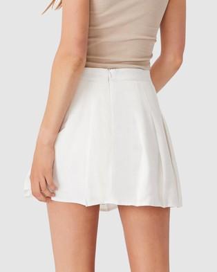Cotton On Pleated Tennis Mini Skirt - Pleated skirts (White)