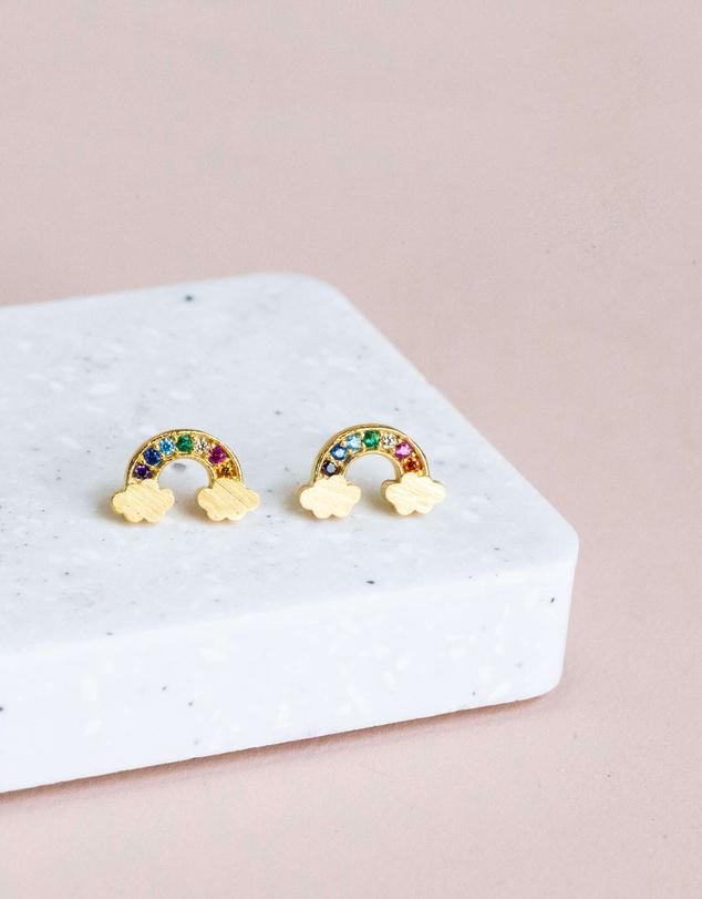 Women Earring Diamante Rainbow
