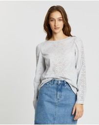 Gap - Eyelet Embroidered Blouse