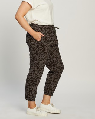 Atmos&Here Curvy Pixie Relaxed Lounge Sweat Pants Sweatpants Charcoal Animal