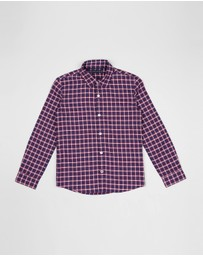Tommy Hilfiger Kids - Multicolour Oxford Check LS Shirt - Teens
