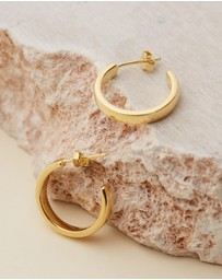 Brie Leon - Elle Stud Hoop Earrings