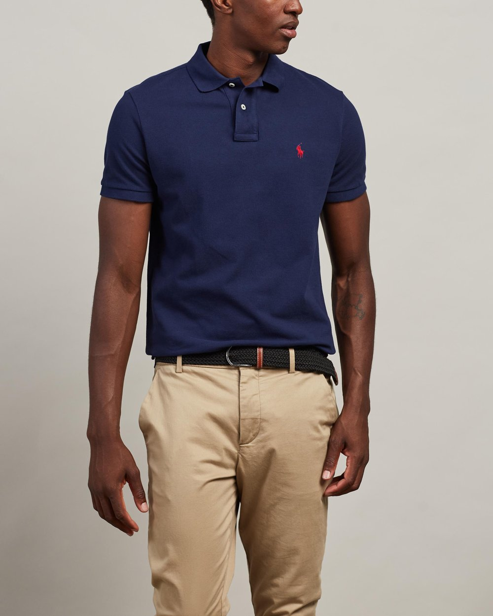 4845862f8a0ca Basic Mesh Custom Slim Fit Polo by Polo Ralph Lauren Online   THE ICONIC    Australia