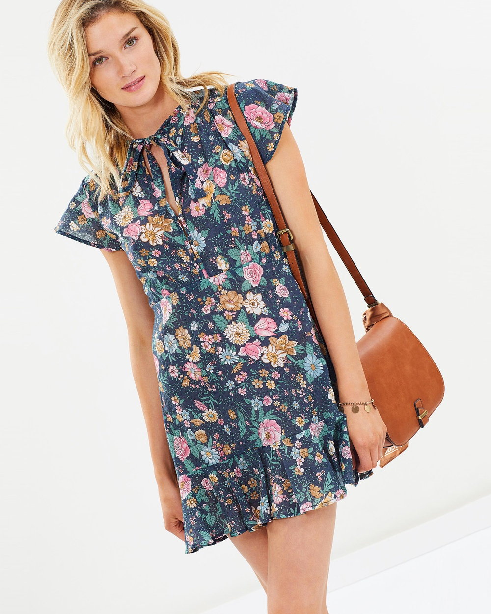 Auguste The Label Spring Rose Wylde Play Dress Printed Dresses Navy Spring Rose Wylde Play Dress