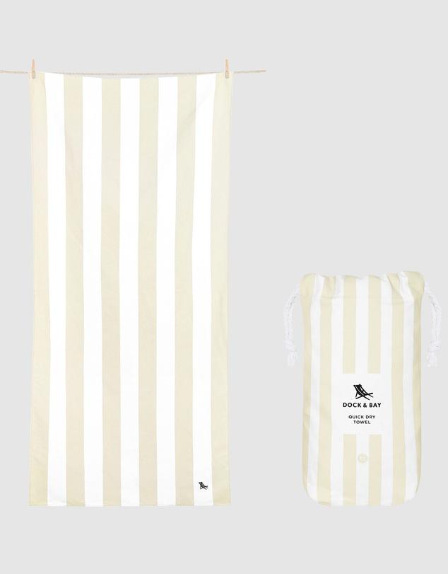 Life Extra Large Beach Towel 100% Recycled Cabana Light Collection