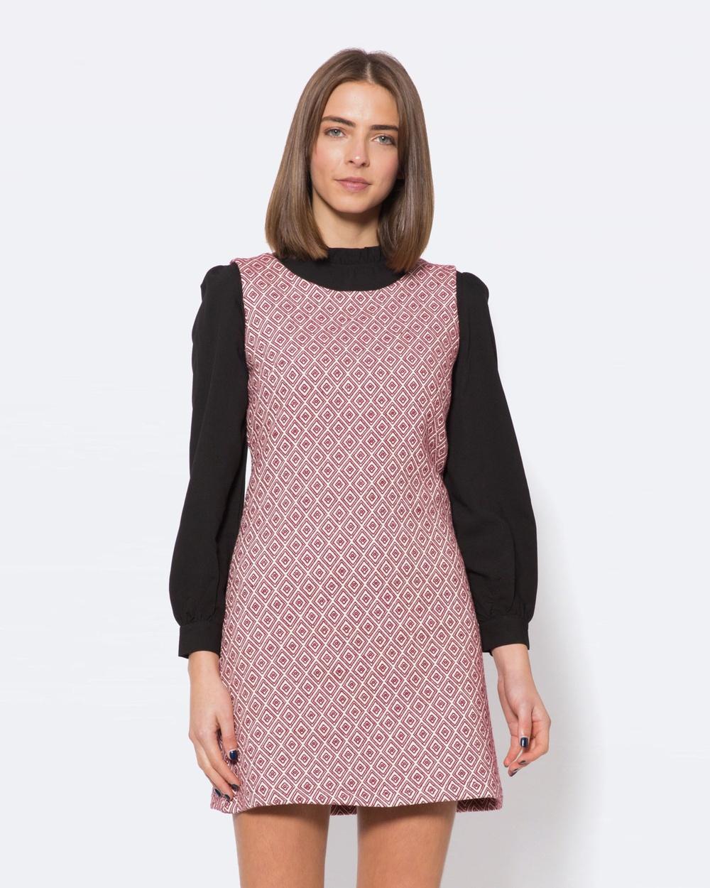 Princess Highway Maxine Jacquard Dress Dresses Pink Maxine Jacquard Dress