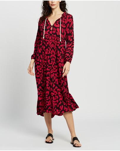 Cartel & Willow Cali Rope Maxi Dress Fuchsia Leopard