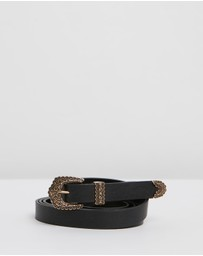 Camilla - Skinny Double Wrap Belt