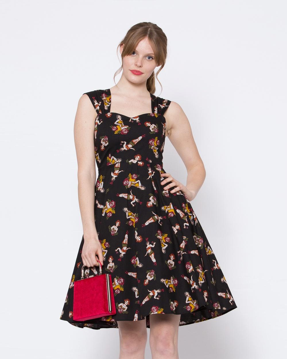 Dangerfield Tattooed Lady Dress Dresses Black Tattooed Lady Dress