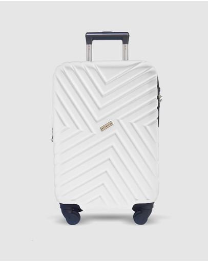 Jett Black Alpine Maze Series Carry On Suitcase White