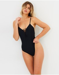 Atmos&Here - Miami Lace Up Front Swimsuit