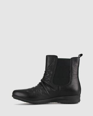 Airflex Cat Leather Rouche Boots - Boots (Black)