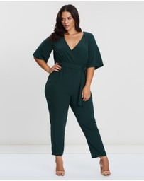 Atmos&Here Curvy - Flare Sleeve Jumpsuit