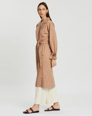 Jag Holly Relaxed Trench Coat - Coats & Jackets (brown)