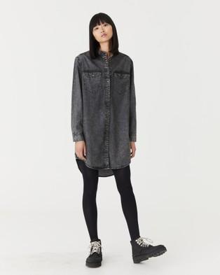 Jac & Mooki Chambray Shirt Dress - Dresses (black acid)