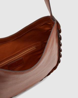 Oxford Orlena Leather Hobo Bag - Handbags (Black)