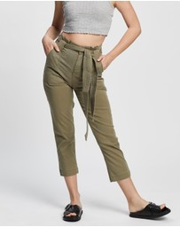 TOPSHOP Petite - Popper Utility Cargo Trousers