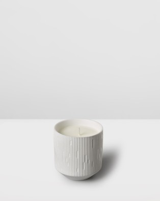 Aery Living Clay Ceramic Plant Pot Candle   Neroli & White Lavender - Candles (White)