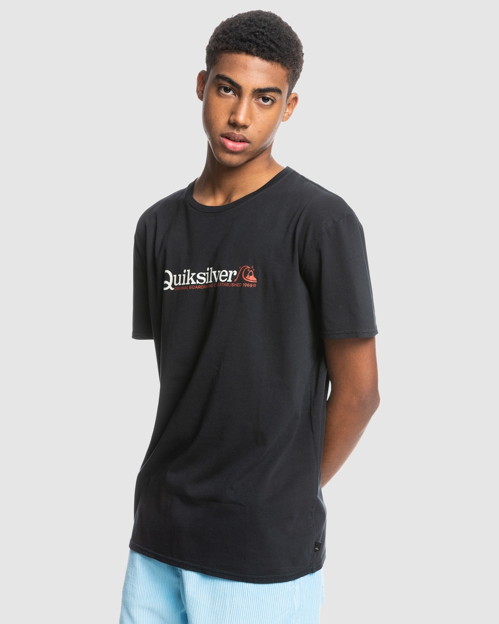 Quiksilver - Mens New Endings Organic T Shirt - T-Shirts & Singlets (Black) Mens New Endings Organic T-Shirt