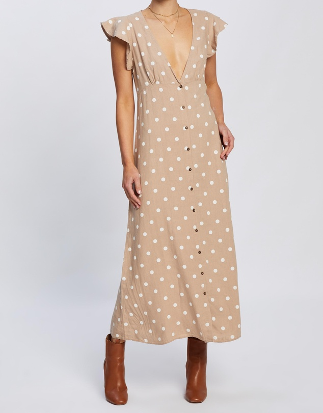 ONLY - Becca Button Midi Woven Dress