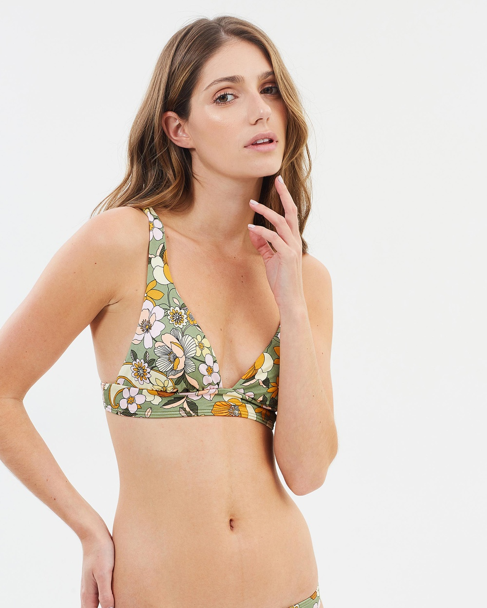 Billabong Caravan Elongated Tri Bikini Top Bikini Tops Mineral Gree Caravan Elongated Tri Bikini Top